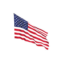 United States waving flag. Vector illustration