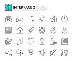 Outline icons about interface 2