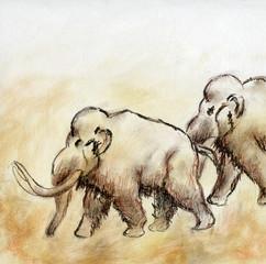 Mammut-Zeichnung