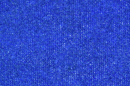 blue towel fabric texture and background