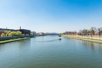River Vistula in Krakow, Poland