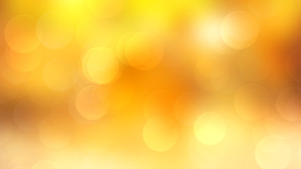 Wall Mural - Abstract golden background with bokeh