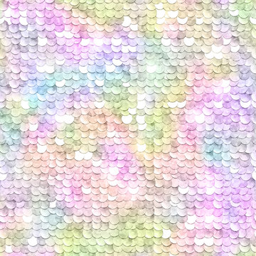 Sequins sparkling background. Rainbow multicolored. Seamless pattern. illustration.