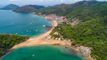 Taboga Island , also known as the island of Flowers, is a volcanic island in the Gulf of Panama. It is a tourist destination, about 20km from Panama City,Panama