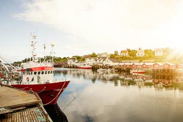 Hafen Fischerdorf, Lofoten, Norwegen