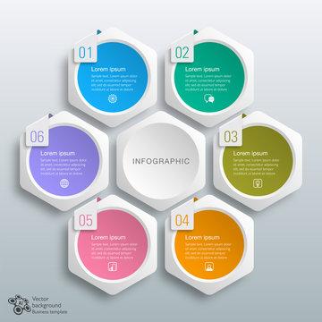 Business Chart Design, 6 Process, template
