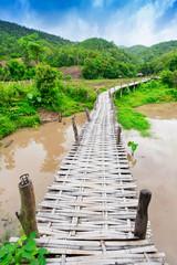 Bambusbrücke Boon Ko Ku So bei Pai; Thailand