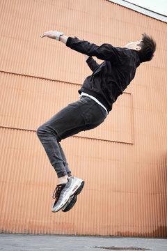 Street Dancer Doing Flip