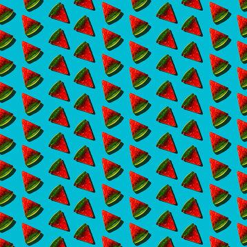 Gummy Pizza Pattern on Blue