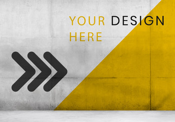 Bright Concrete Wall Mockup