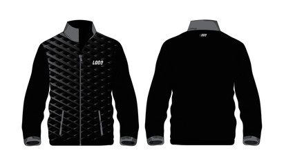 Sport Jacket grey and black template for design on white background. Vector illustration eps 10.