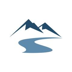 Mountain  Vector Illustration Logo Template