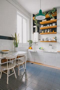 Modern rural kitchen with natural light