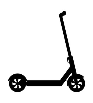 kick scooter for city driving and game pleasure stock vector illustration