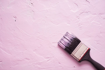 Painting a pink background.