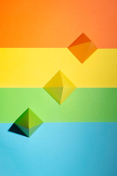 Multi-Coloured shapes on a multi-coloured background (5)