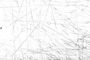 Scratches and dirt texture on white background