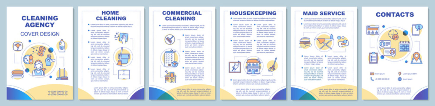 Cleaning agency brochure template layout