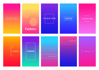 Fashion social media stories duotone template set