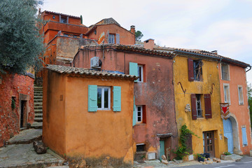 Street village of Roussillon, one of the most beautiful villages in France