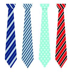 Neck tie vector design illustration isolated on white background