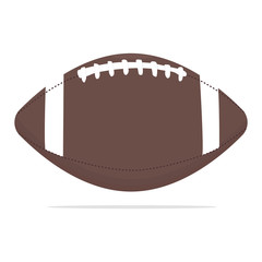 American football ball vector icon. Sport equipment concept illustration. Rugby ball realistic style design, designed for web and app. Eps 10.
