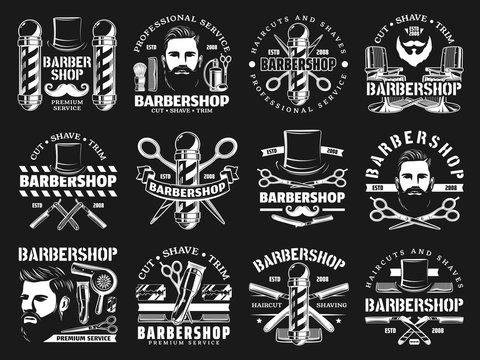 Barbershop premium haircut salon, beard shaving