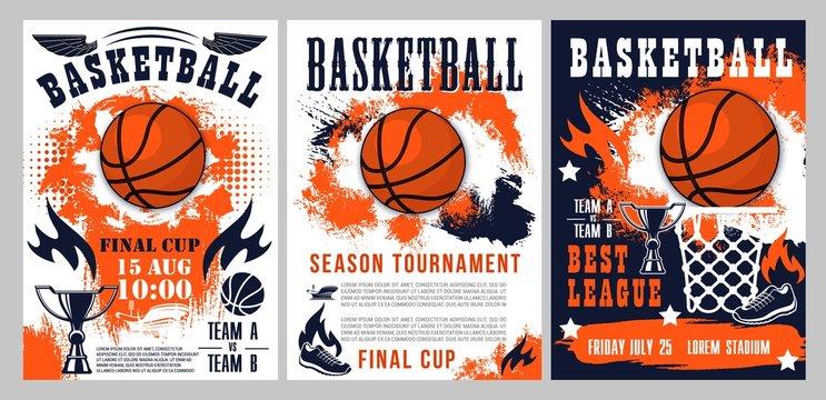 Basketball sport league cup, team tournament