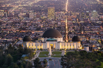 Griffith Observatory and Los Angeles at night