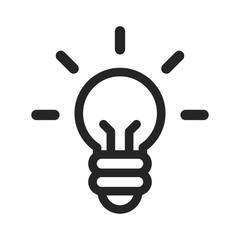 Idea vector icon. Light bulb