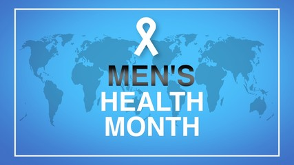 Men's Health Month poster and banner campaign - design illustration.