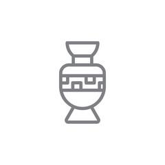 Fototapeta amphora icon. Element of myphology icon. Thin line icon for website design and development, app development. Premium icon obraz