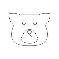 face bear icon. Element of Russia for mobile concept and web apps icon. Outline, thin line icon for website design and development, app development