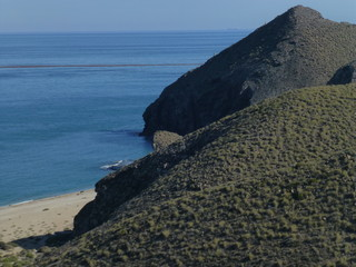 Carboneras in Cabo de Gata. Almeria.,Andalusia,Spain