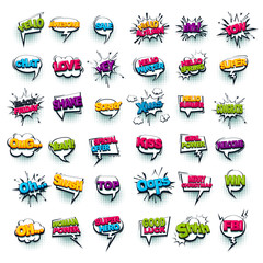 Fotobehang Pop Art Comic text collection sound effects pop art style