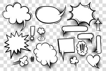 Fotobehang Pop Art Comic book text speech bubble