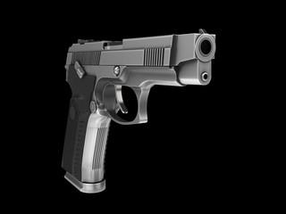 Tactical modern semi - automatic gun - steel finish