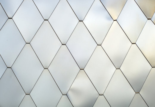 shiny tiles aluminum silver pattern texture lozenges metal brushed background