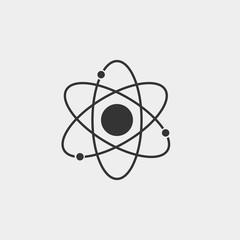 Atom vector icon illustration sign