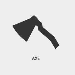 Axe vector icon illustration sign