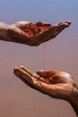 Fototapeta Aboriginal Australia, a landscape build on traditional values passed from many generations.  obraz