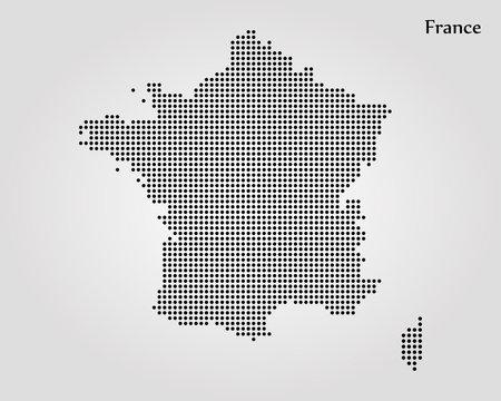 Map of France. Vector illustration. World map