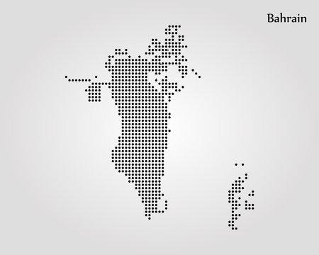 Map of Bahrain. Vector illustration. World map