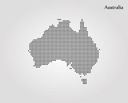 Map of Australia. Vector illustration. World map