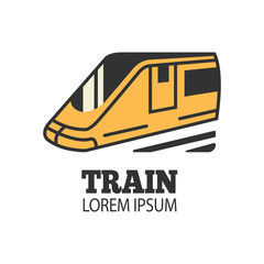 Train railway, Subway Train icon, logo isolated on white background. vector illustration - Vector