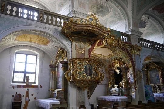 Barockkanzel Klosterkirche Au am Inn