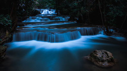 long exposure waterfall in the park at night Wall mural