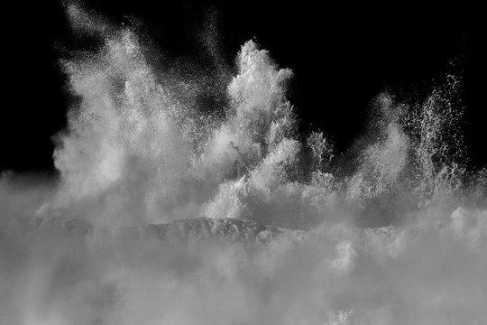 White wave splash