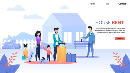 House Rent Service Flat Landing Page Template