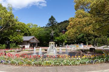 岐阜公園の噴水
